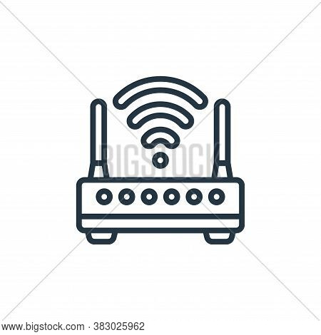 wireless router icon isolated on white background from cloud computing collection. wireless router i