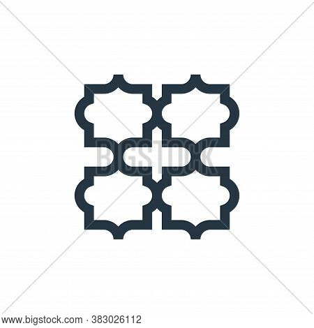 pattern icon isolated on white background from morocco collection. pattern icon trendy and modern pa