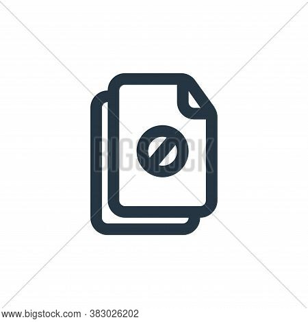 block icon isolated on white background from file and folder collection. block icon trendy and moder