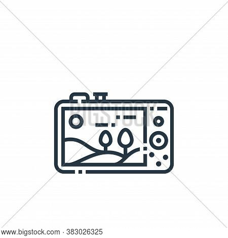 digital camera icon isolated on white background from photography collection. digital camera icon tr