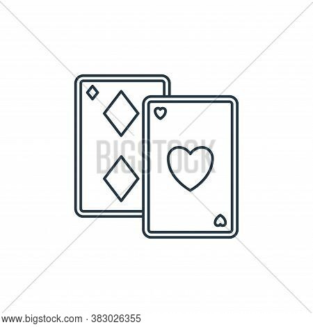 poker cards icon isolated on white background from birthday party collection. poker cards icon trend