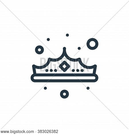 crown icon isolated on white background from jewellery collection. crown icon trendy and modern crow