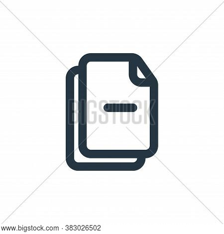 minus sign icon isolated on white background from file and folder collection. minus sign icon trendy