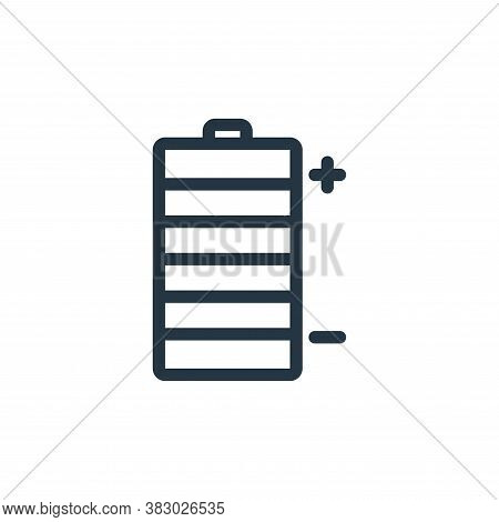 battery icon isolated on white background from office equipment collection. battery icon trendy and