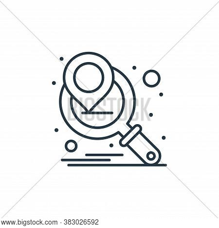 search icon isolated on white background from digital marketing collection. search icon trendy and m