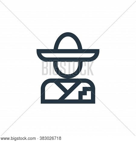 mexican man icon isolated on white background from mexico collection. mexican man icon trendy and mo
