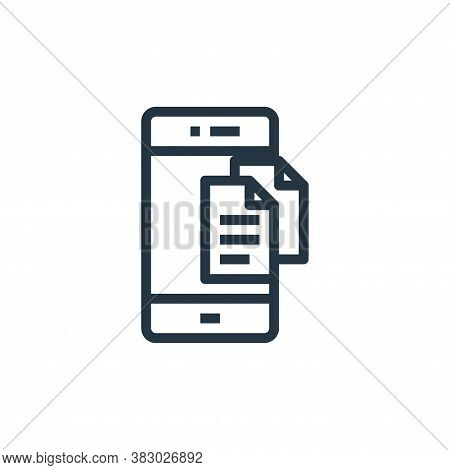 smartphone icon isolated on white background from business money and communication collection. smart
