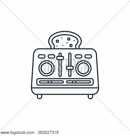 toaster icon isolated on white background from coffee shop collection. toaster icon trendy and moder