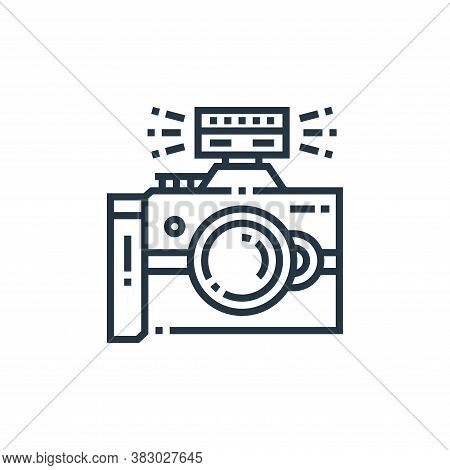 camera flash icon isolated on white background from photography collection. camera flash icon trendy