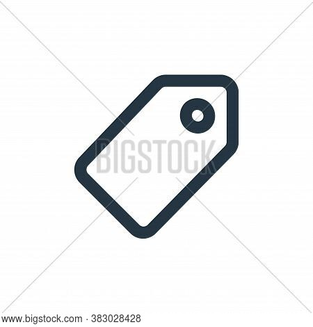 tag icon isolated on white background from ecommerce ui collection. tag icon trendy and modern tag s