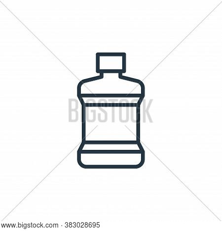 mouthwash icon isolated on white background from bathroom accessories collection. mouthwash icon tre
