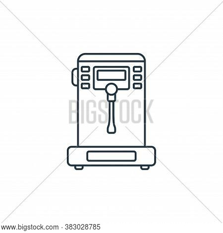 steamer icon isolated on white background from coffee shop collection. steamer icon trendy and moder