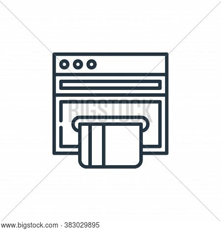online payment icon isolated on white background from cyber security collection. online payment icon