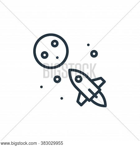 space travel icon isolated on white background from universe collection. space travel icon trendy an