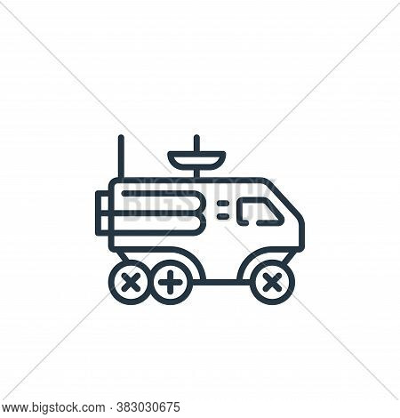 moon rover icon isolated on white background from vehicles transportation collection. moon rover ico