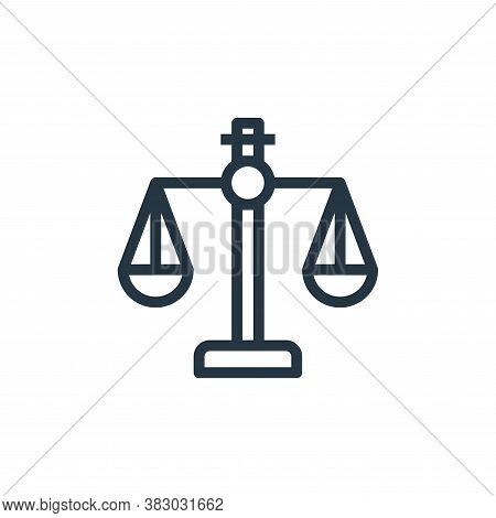 scales icon isolated on white background from business and money collection. scales icon trendy and