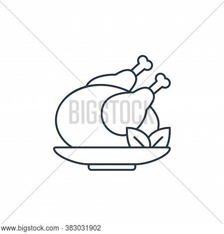 chicken icon isolated on white background from birthday party collection. chicken icon trendy and mo