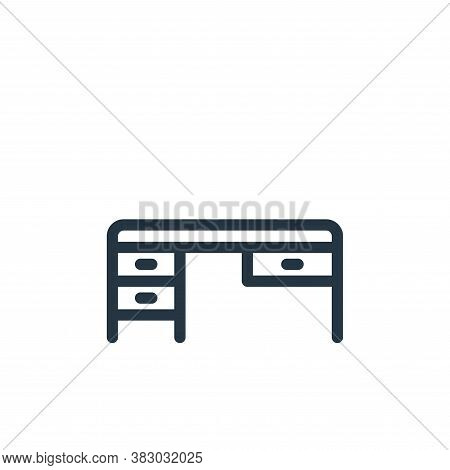 desk icon isolated on white background from office equipment collection. desk icon trendy and modern