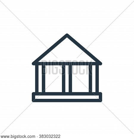 building icon isolated on white background from school collection. building icon trendy and modern b
