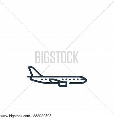 plane icon isolated on white background from vehicles transportation collection. plane icon trendy a
