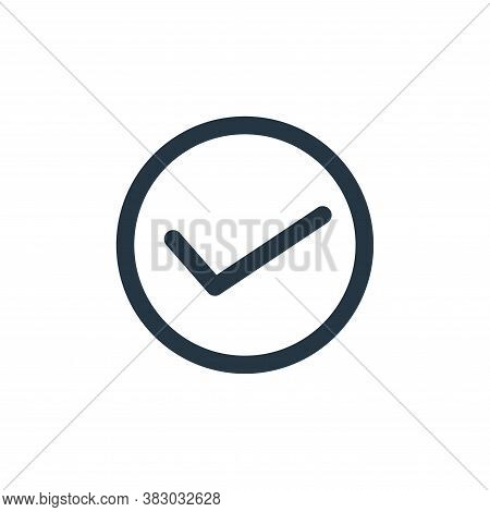 correct icon isolated on white background from technology collection. correct icon trendy and modern