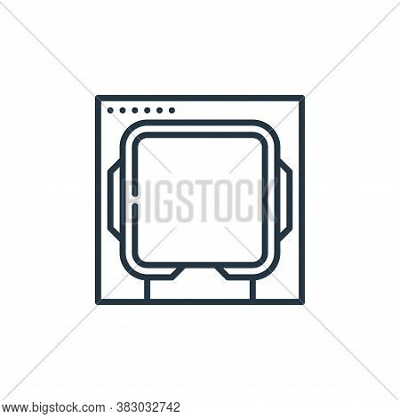 processor icon isolated on white background from cyber security collection. processor icon trendy an