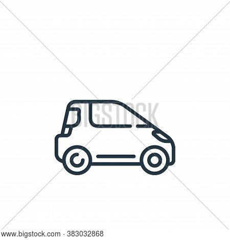 hatchback icon isolated on white background from vehicles transportation collection. hatchback icon