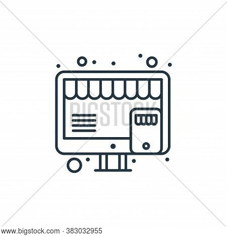 online shop icon isolated on white background from digital marketing collection. online shop icon tr