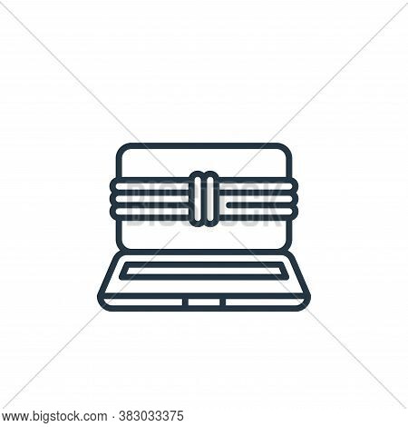 ransomware icon isolated on white background from cyber security collection. ransomware icon trendy