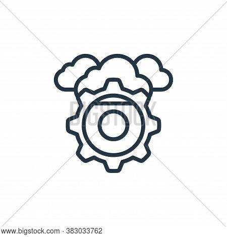 cloud settings icon isolated on white background from cloud computing collection. cloud settings ico
