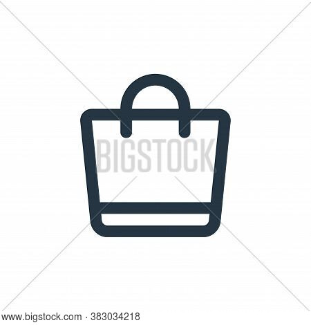 shopping bag icon isolated on white background from ecommerce ui collection. shopping bag icon trend