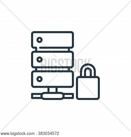 database icon isolated on white background from cyber security collection. database icon trendy and