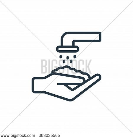 WASHING HANDS icon isolated on white background from coronavirus collection. WASHING HANDS icon tren