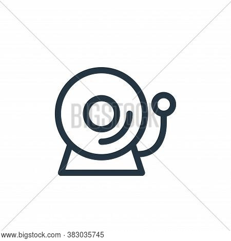 bell icon isolated on white background from school collection. bell icon trendy and modern bell symb