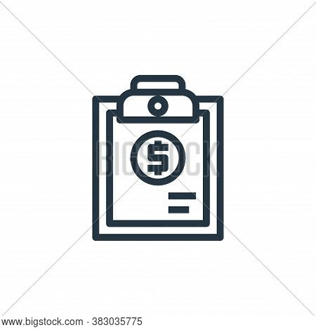 report icon isolated on white background from business money and communication collection. report ic