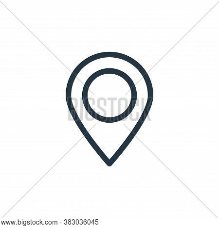 gps navigation icon isolated on white background from communication and media collection. gps naviga