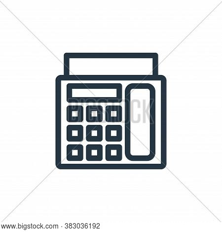 fax machine icon isolated on white background from office equipment collection. fax machine icon tre