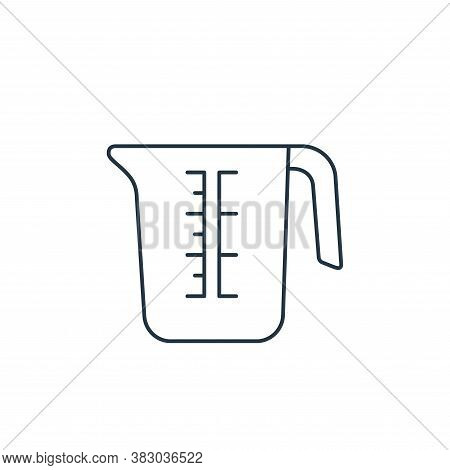 measuring cup icon isolated on white background from coffee shop collection. measuring cup icon tren