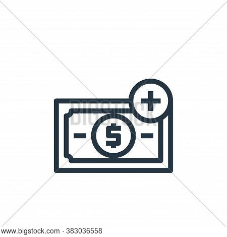 profit icon isolated on white background from business money and communication collection. profit ic