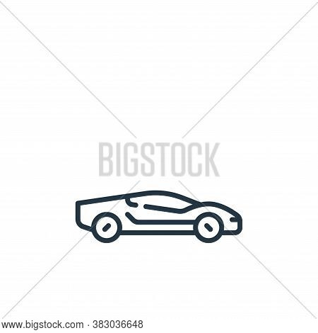 sport car icon isolated on white background from vehicles transportation collection. sport car icon