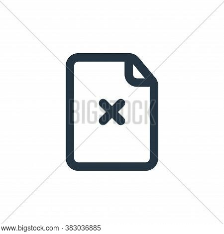 delete file icon isolated on white background from file and folder collection. delete file icon tren