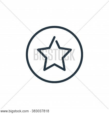 favorite icon isolated on white background from media players collection. favorite icon trendy and m
