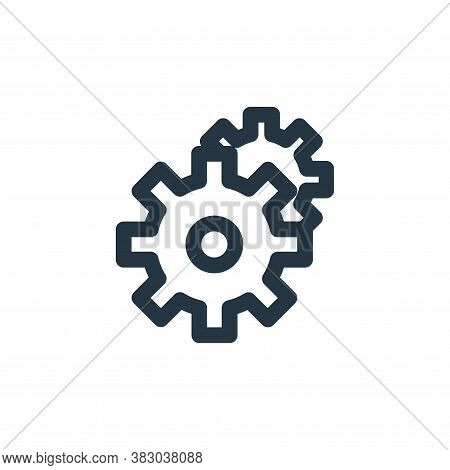 setting icon isolated on white background from user interface collection. setting icon trendy and mo