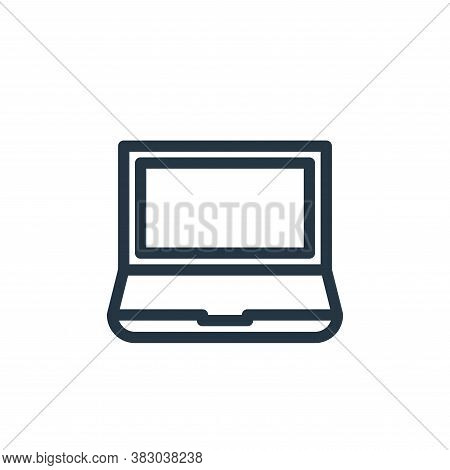 laptop icon isolated on white background from office equipment collection. laptop icon trendy and mo