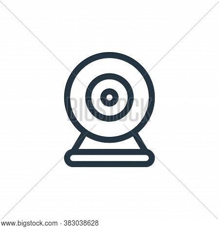 rounded webcam icon isolated on white background from office equipment collection. rounded webcam ic