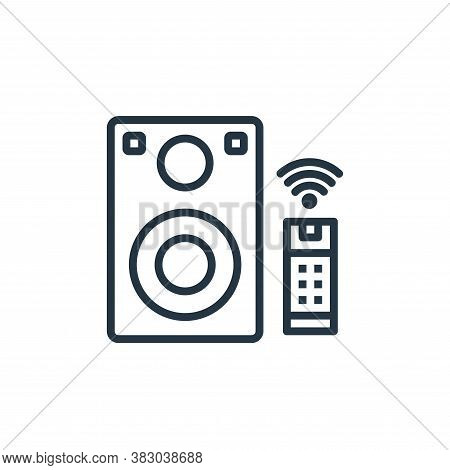 stereo icon isolated on white background from internet of thing collection. stereo icon trendy and m