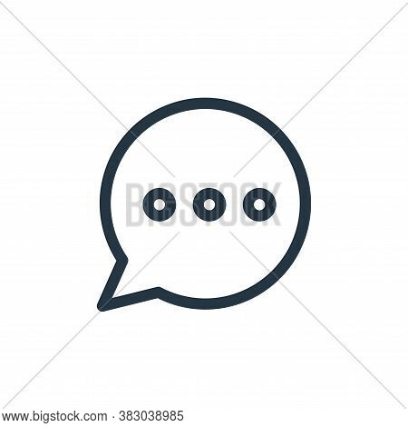 chat icon isolated on white background from communication and media collection. chat icon trendy and