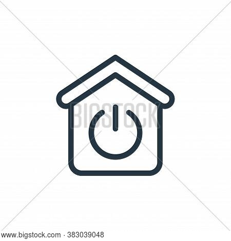 power icon isolated on white background from smarthome collection. power icon trendy and modern powe