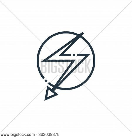 flashlight icon isolated on white background from photography collection. flashlight icon trendy and