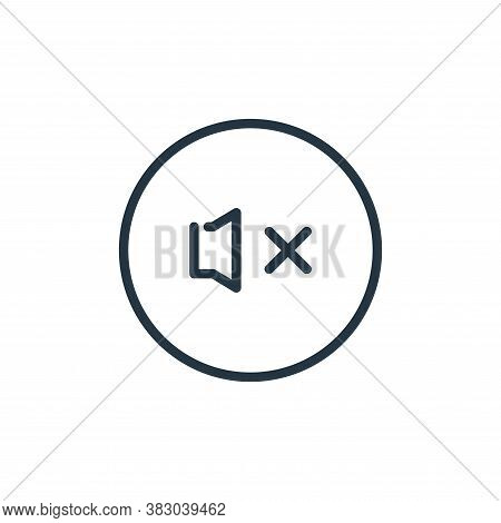 mute icon isolated on white background from media players collection. mute icon trendy and modern mu